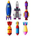 Explosive rockets vector