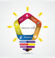 Creative infographics light bulb idea concept vector