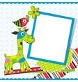 Giraffe greeting card template vector