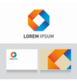 Logo company card ribbons vector
