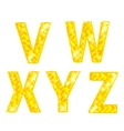 Diamond letters v w x y z vector