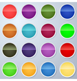 Paper buttons collection vector