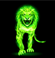 Green fire lion vector
