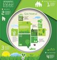Modern ecology infographic design vector