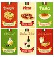 Italian food mini poster vector