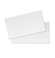 Blank business cards on white background vector