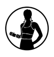 Icon sport women silhouettes vector