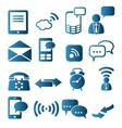 Icon set of telecommunication vector