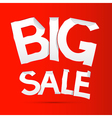 Big sale sticker - label on red background vector