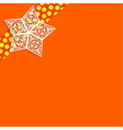 Orange background with white paper stars vector