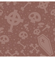 Creepy cartoon halloween seamless texture vector