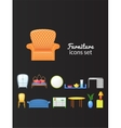 Set icons furniture isolated from background vector
