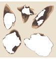 Burnt holes in paper vector