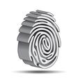 Finger print logo vector