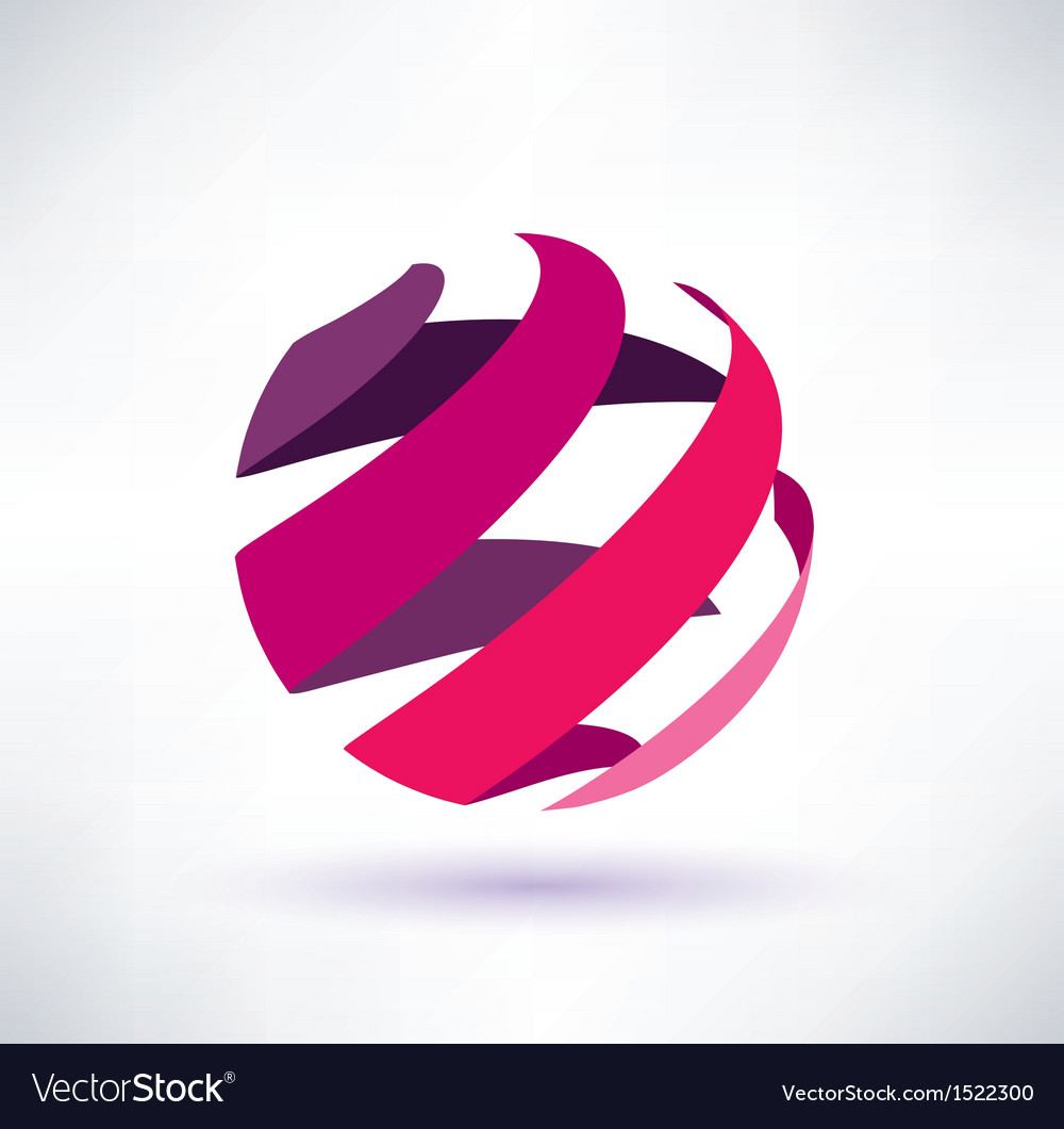 Abstract red globe icon energy concept vector | Price: 1 Credit (USD $1)