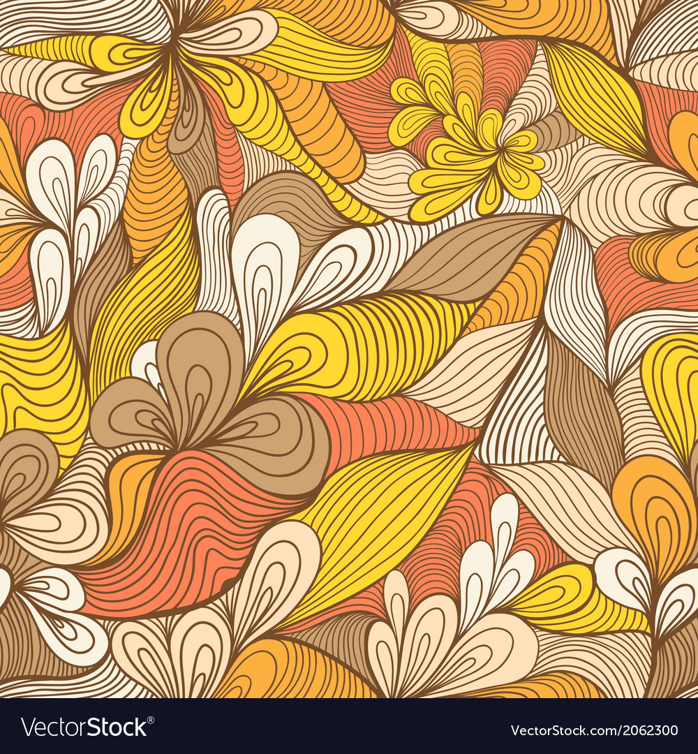 Colorful seamless abstract hand-drawn pattern vector | Price: 1 Credit (USD $1)