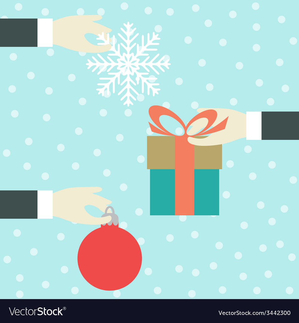 Hand with a gift vector | Price: 1 Credit (USD $1)