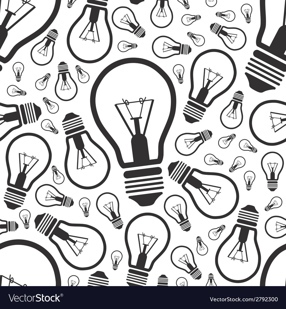 Lightbulb seamless pattern vector | Price: 1 Credit (USD $1)
