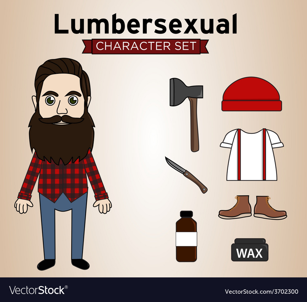 Lumbersexual man vector | Price: 1 Credit (USD $1)