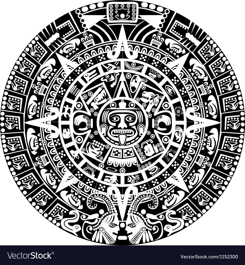 Mayan calendar vector | Price: 1 Credit (USD $1)