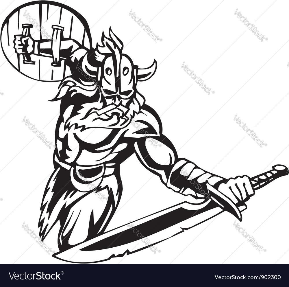 Nordic viking -  vinyl-ready vector | Price: 1 Credit (USD $1)