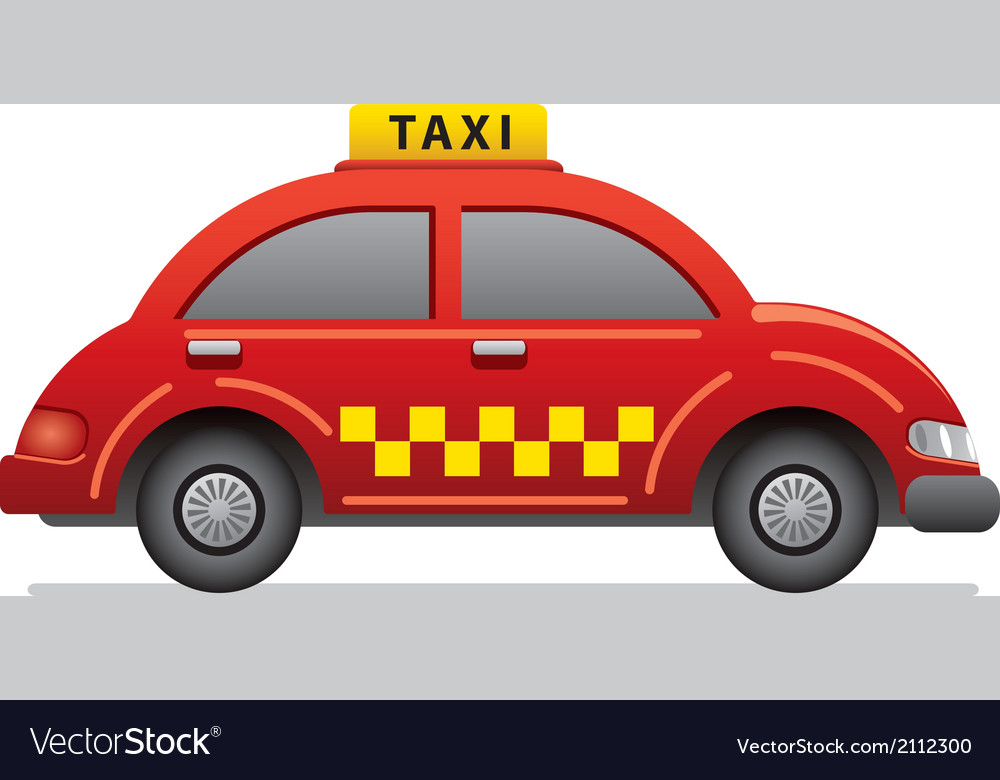 Red taxi icon vector | Price: 1 Credit (USD $1)