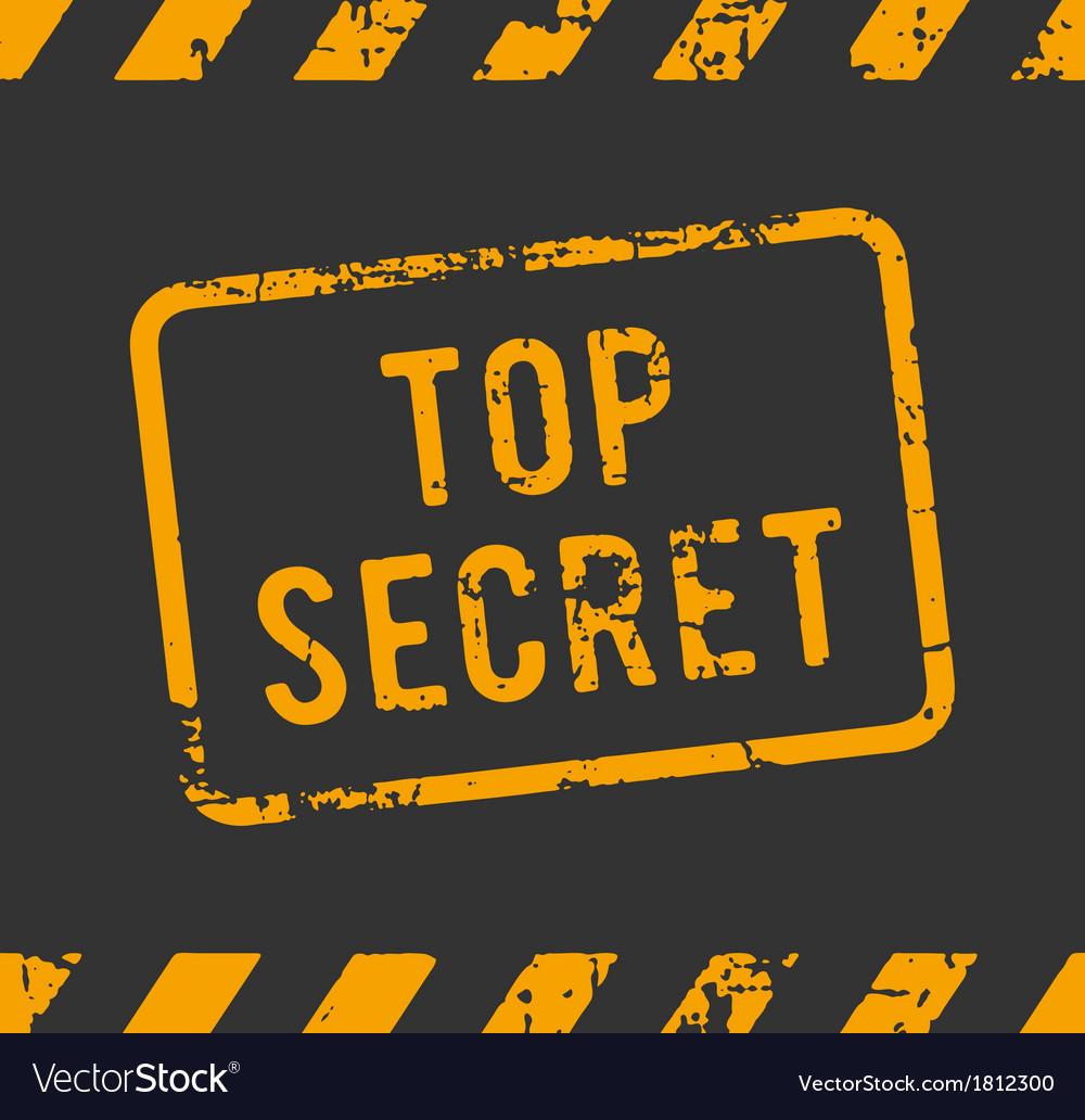 Top secret rubber stamp vector | Price: 1 Credit (USD $1)