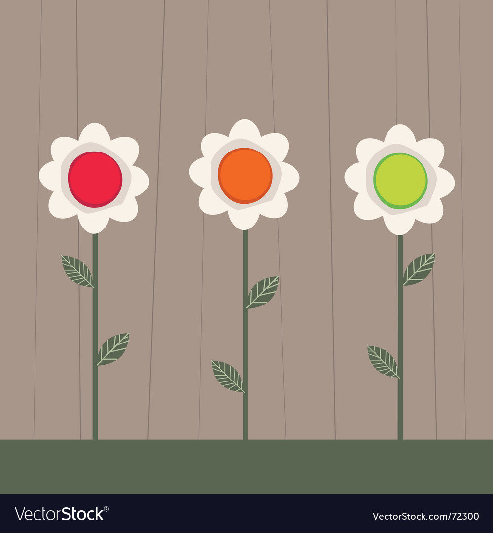Traffic light flowers vector | Price: 1 Credit (USD $1)