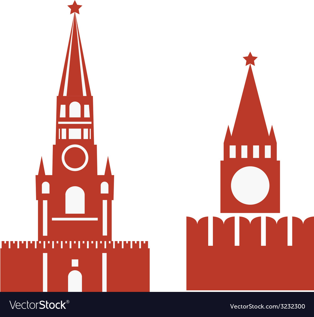 Two variations of spasskaya tower and req vector | Price: 1 Credit (USD $1)