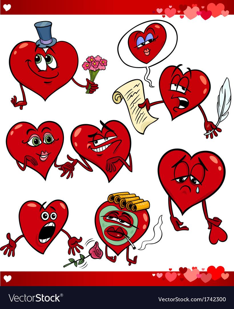 Valentine cartoon love set vector | Price: 1 Credit (USD $1)