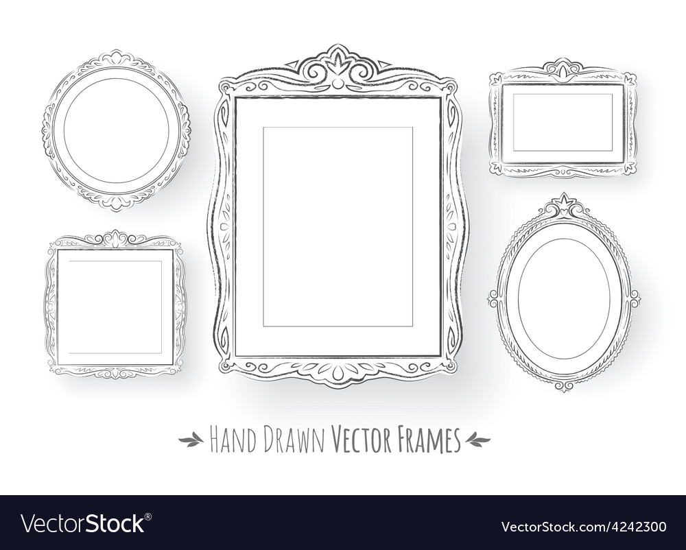 Vintage baroque frames set vector   Price: 1 Credit (USD $1)