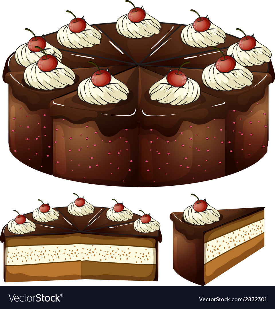 A mouthwatering chocolate cake vector | Price: 1 Credit (USD $1)