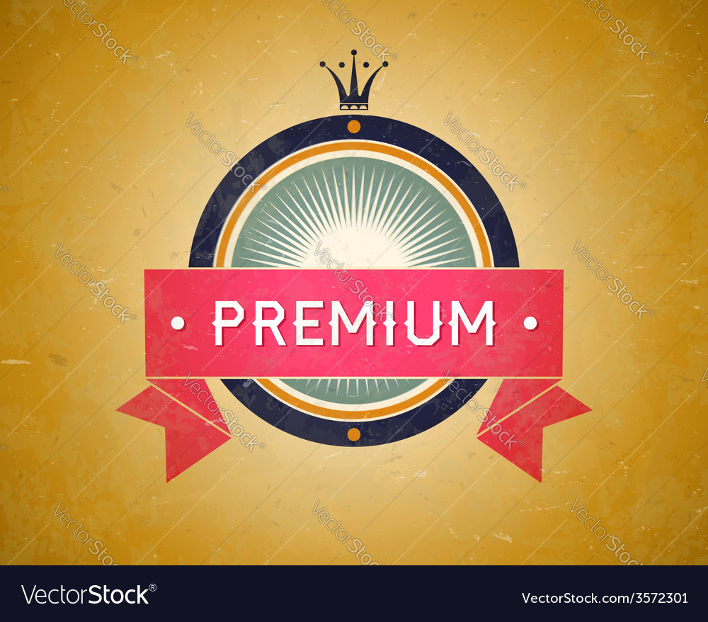 Colorful vintage premium label vector | Price: 1 Credit (USD $1)