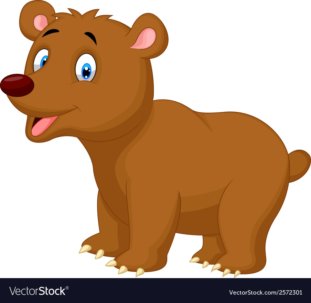 Cute brown bear cartoon vector | Price: 1 Credit (USD $1)