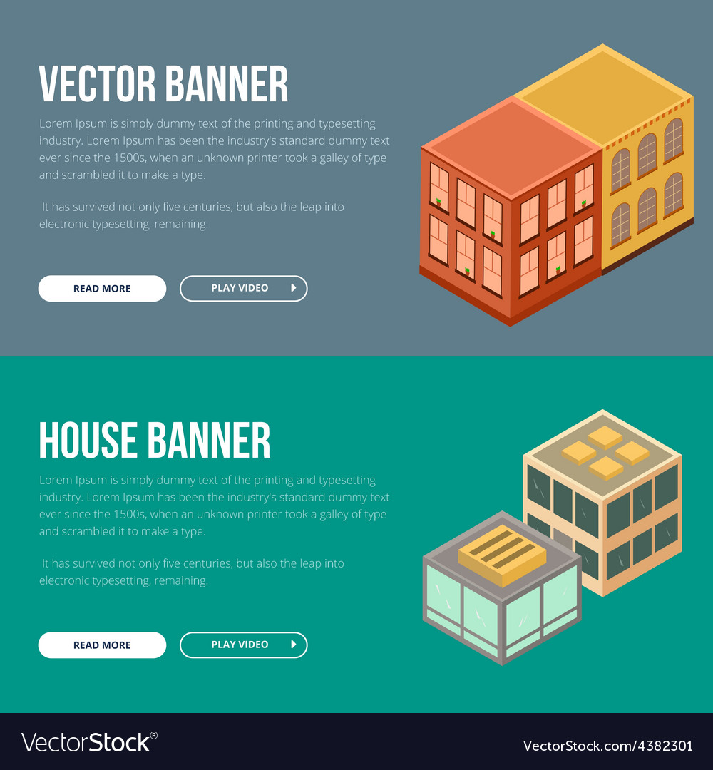Estate banner with houses vector   Price: 1 Credit (USD $1)