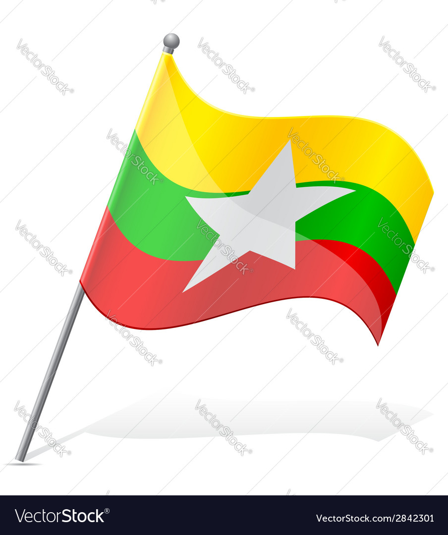 Flag of myanmar vector   Price: 1 Credit (USD $1)