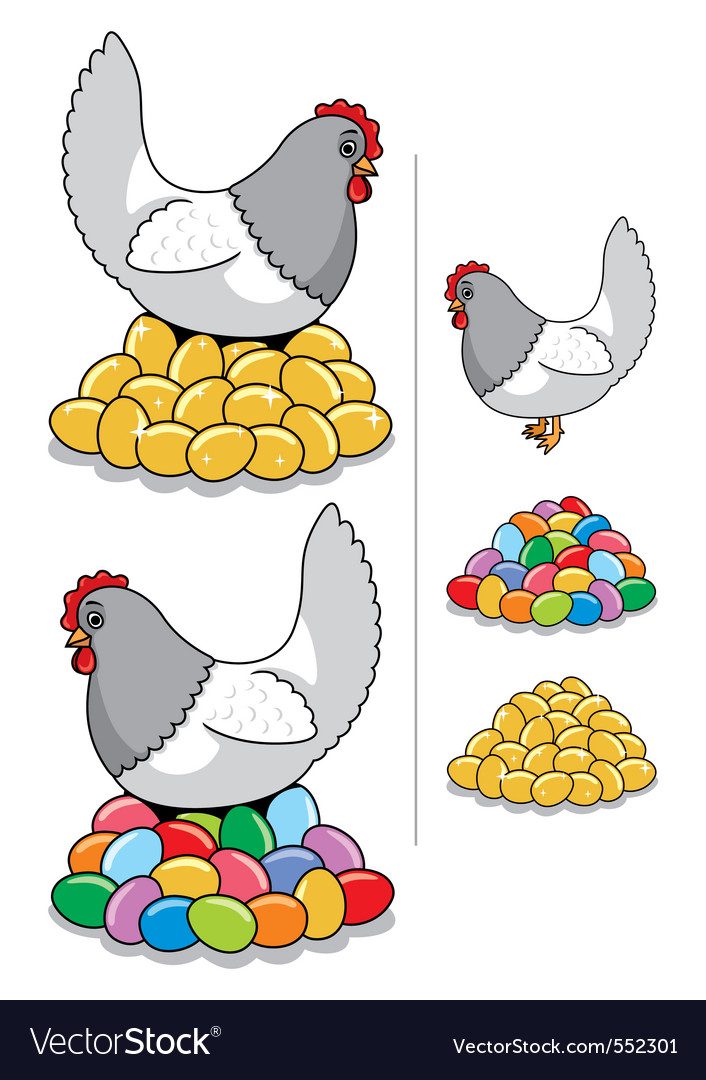 Hen eggs vector | Price: 1 Credit (USD $1)