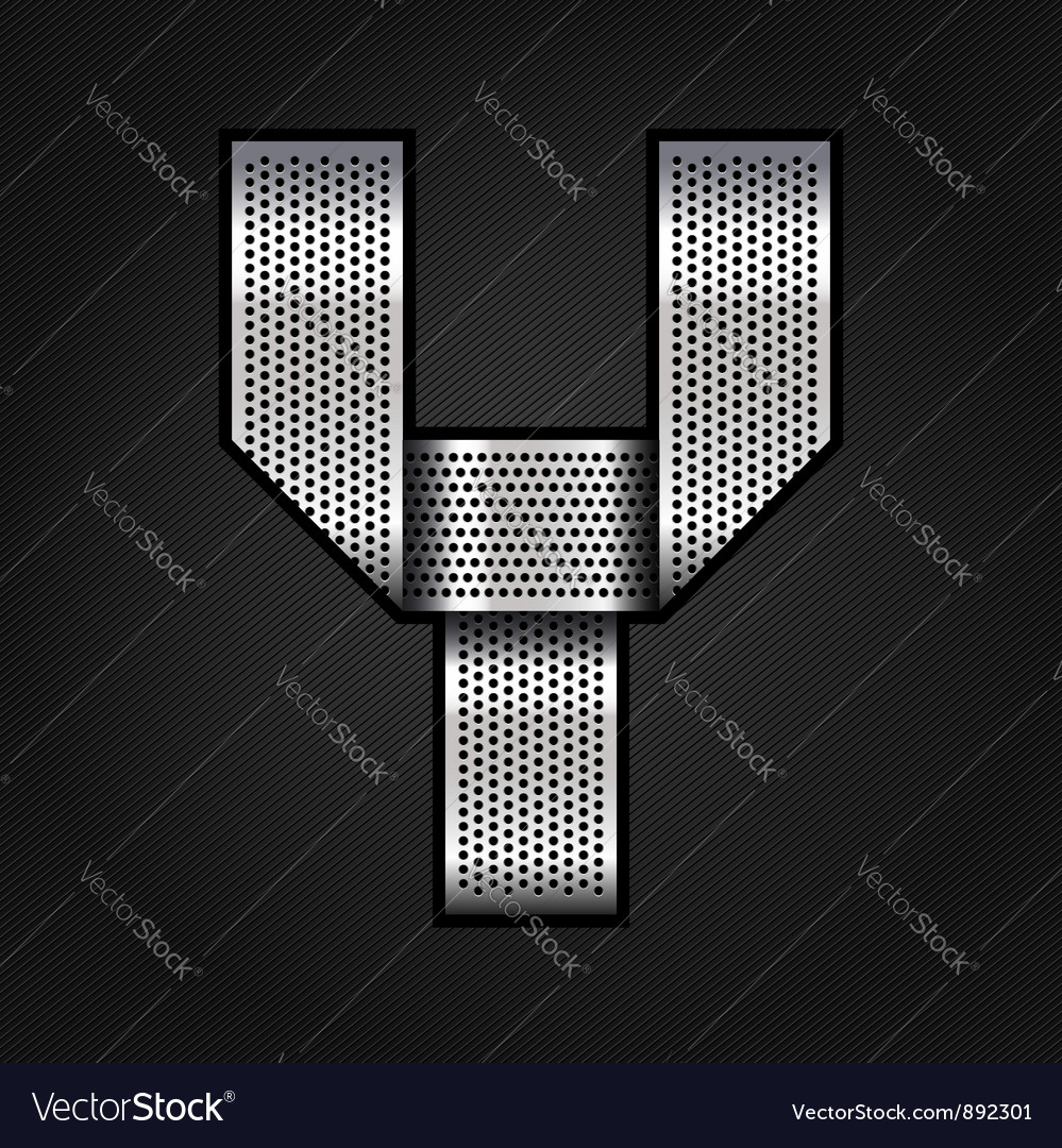 Letter metal chrome ribbon - y vector | Price: 1 Credit (USD $1)
