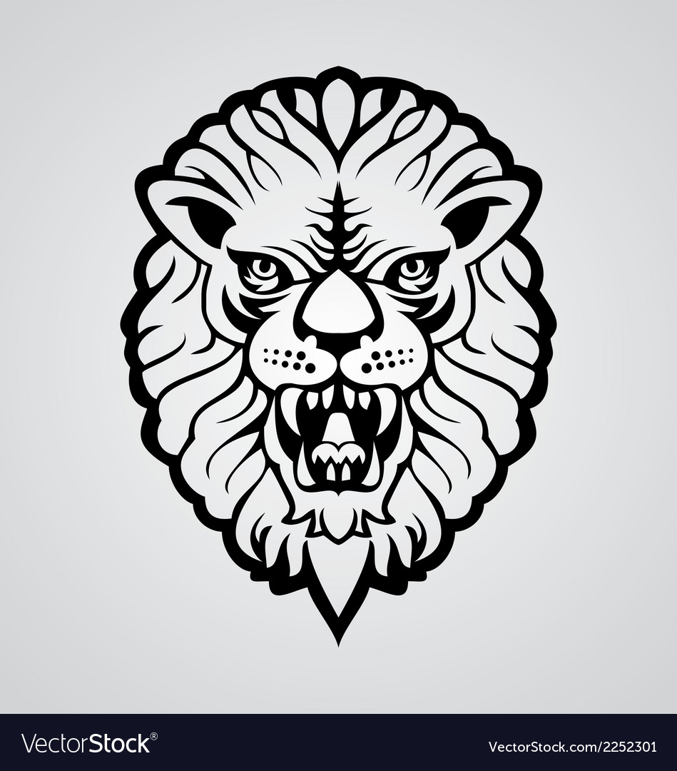 Lions head vector | Price: 1 Credit (USD $1)