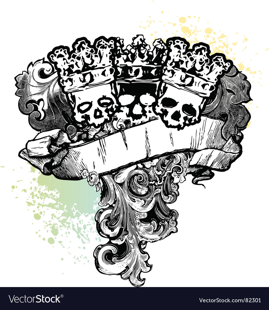 Skull kings banner vector | Price: 1 Credit (USD $1)