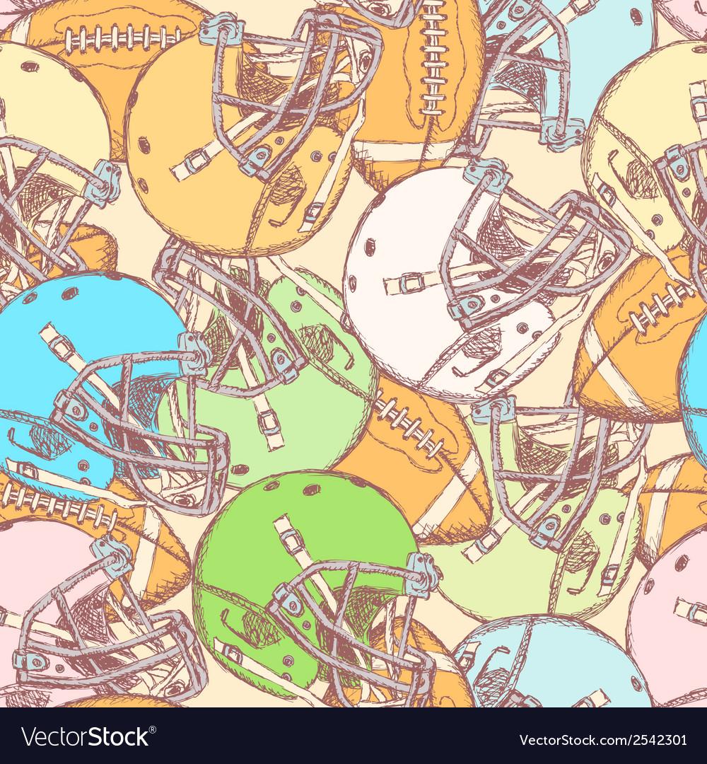 Us helmet ball vector | Price: 1 Credit (USD $1)