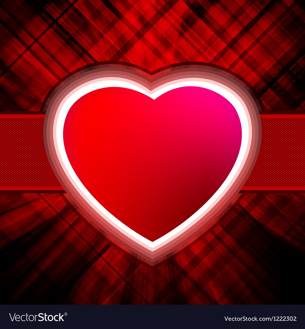 Abstract heart burst background vector | Price: 1 Credit (USD $1)