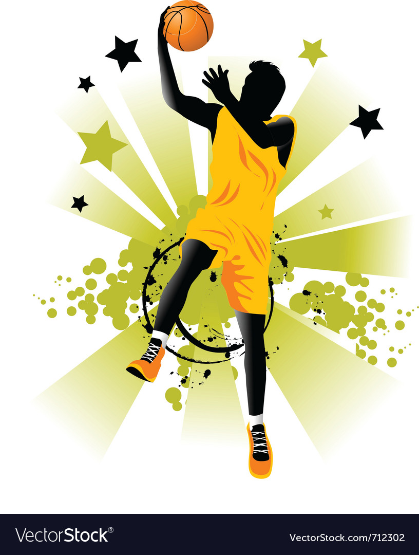 Basketball players vector | Price: 1 Credit (USD $1)