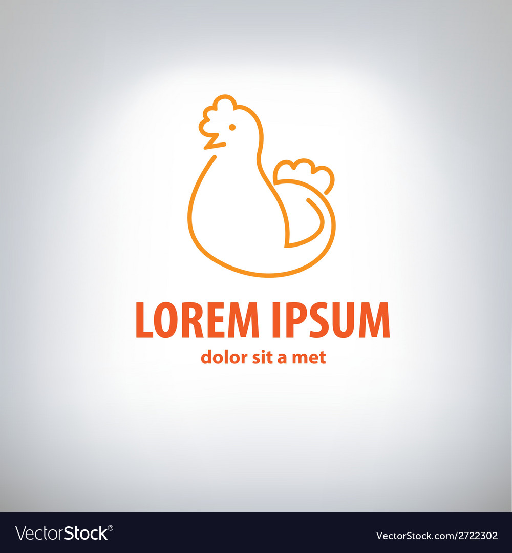 Chicken logo vector | Price: 1 Credit (USD $1)