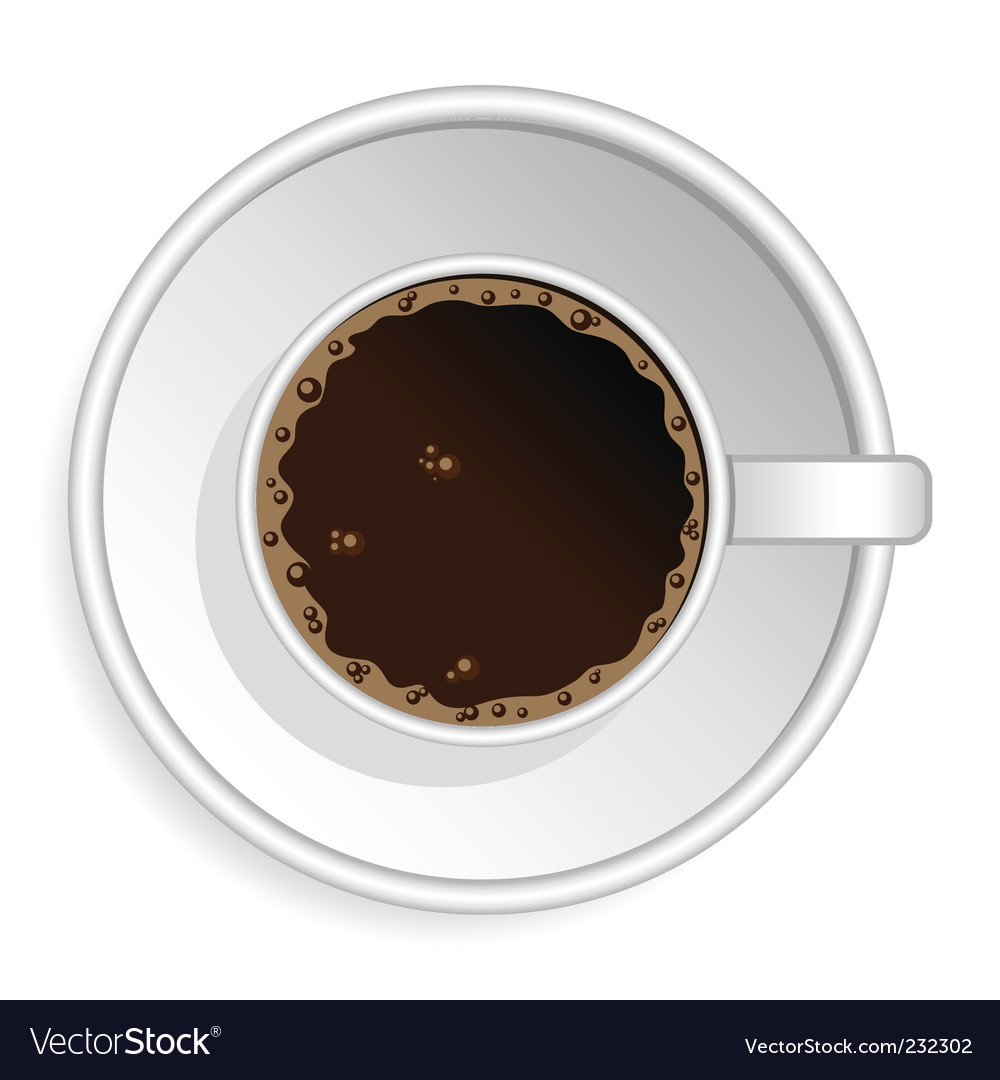 Coffee espresso cup vector | Price: 1 Credit (USD $1)