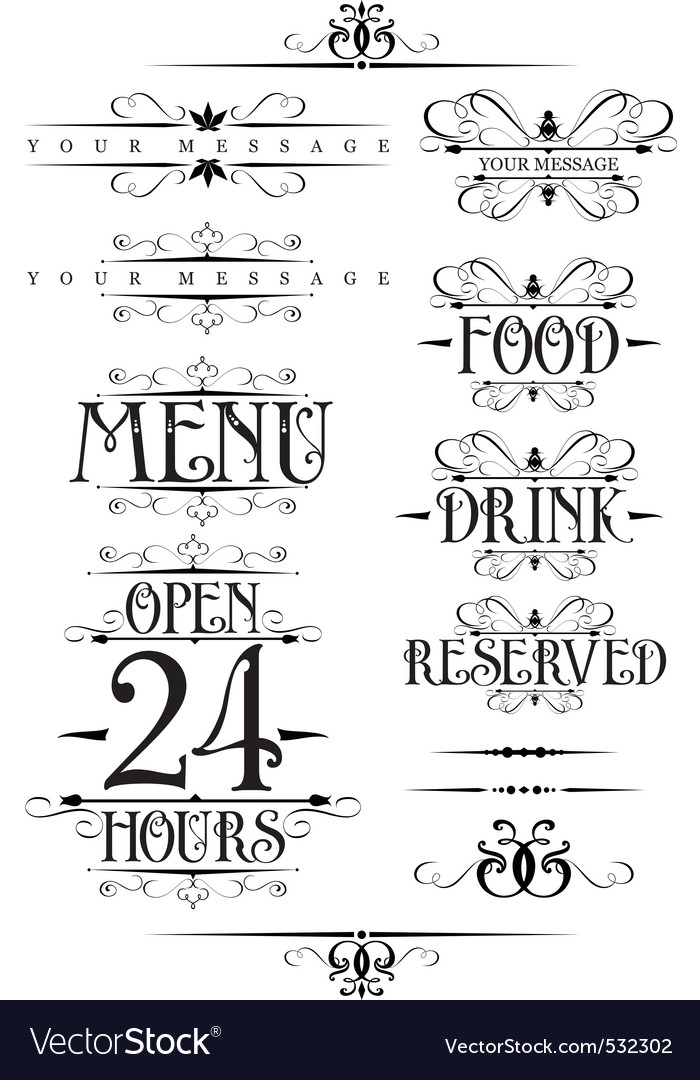 Decorative text design element vector | Price: 1 Credit (USD $1)