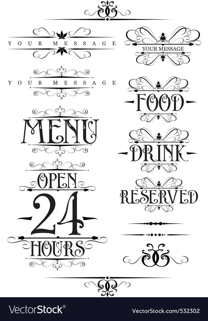 Decorative text design element vector | Price: 1 Credit (USD $1)