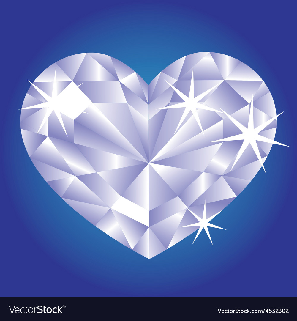 Diamond card hearts vector | Price: 1 Credit (USD $1)