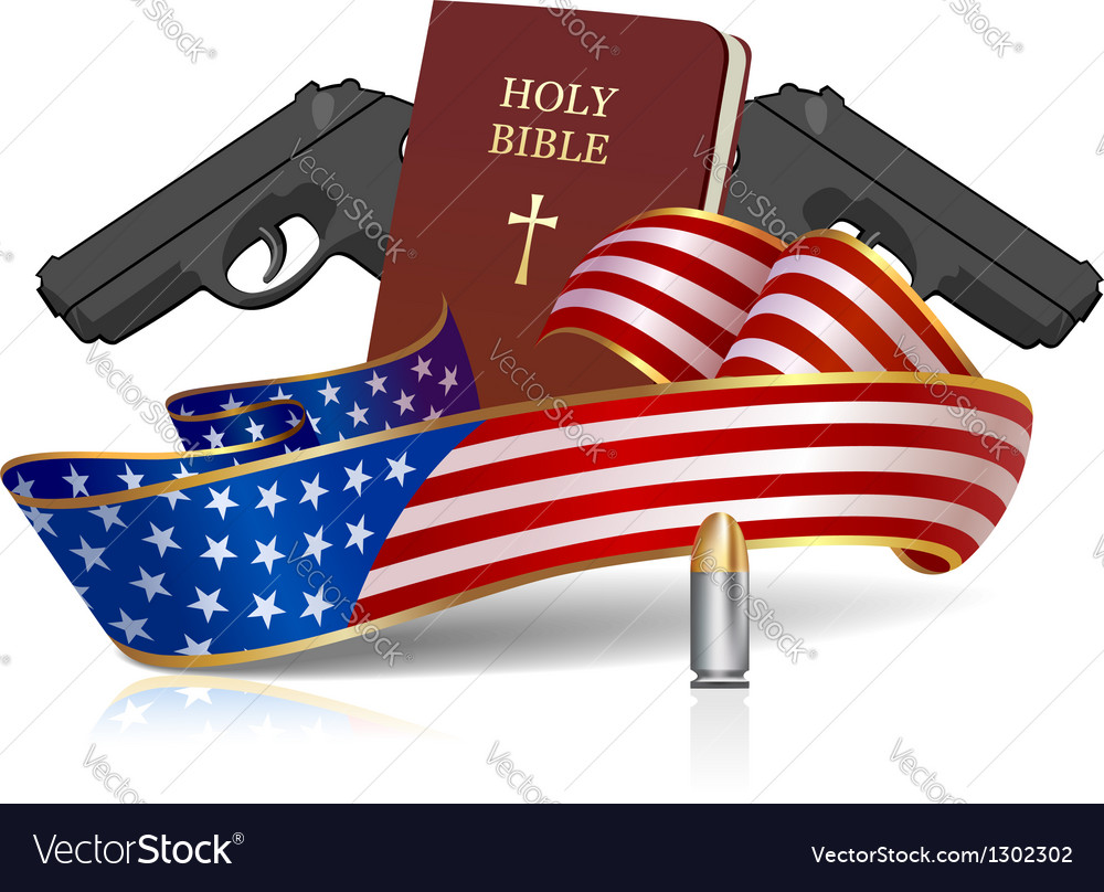 Guns and holy bible vector | Price: 3 Credit (USD $3)