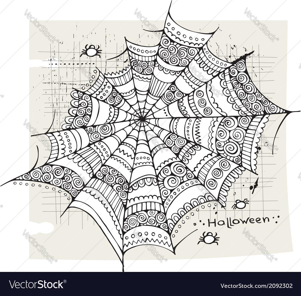 Halloween spider web background vector   Price: 1 Credit (USD $1)